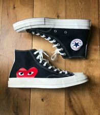 Converse x Comme des Garcons CDG Play All Star Chuck Taylor 70 Black Red UK 7