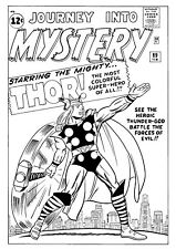original Thor comic art cover recreation