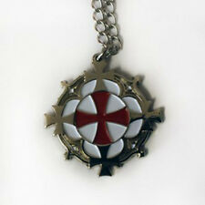 Knights Templar Solar Cross Pendant & Chain, Masonic Talisman Nickel Free Chain