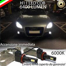 KIT H11 LED FENDINEBBIA AUDI TT 8J CANBUS 6400 LUMEN 6000K NO ERROR XENON BIANCO