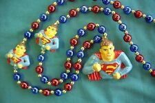"`Cool ""Superman"" Mardi Gras Necklace Bead Smallville Clark Kent (B551)"