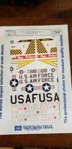 1/48 F-4 Phantom Decals Michigan & N Dakota ANG  opened envelope Microscale 0189