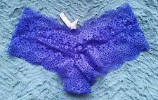 NWT Victoria's Secret  Shortie Minishort Crochet Lace Purple Panties Large L $25