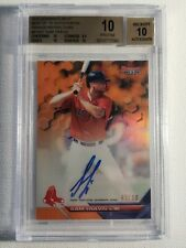 BGS 10/10 Sam Travis 2016 Bowman's Best Orange/50 Autograph Red Sox Rangers Auto