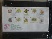 GUERNSEY 1992 FLOWERS SET OF 10 STAMPS FDC FIRST DAY COVER