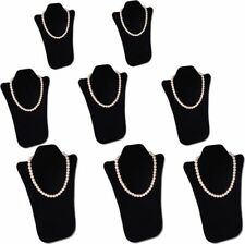 "8Pcs SET 14""H PADDED NECKLACE PENDANT CHAIN BLACK JEWELRY DISPLAY EASEL PJ13PB8"