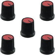 5 X ROSSO potenziometro manopola di controllo 6mm diametro dell'asta