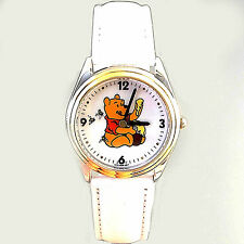 Winnie The Pooh Rare White Leather Band Collectible Unworn Fossil Watch Only $59
