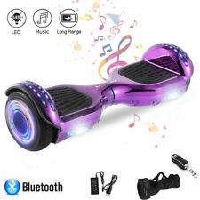 Hoverboard 6,5 Zoll Elektro Scooter Bluetooth Selbst ElektroRoller Kinder- Lila