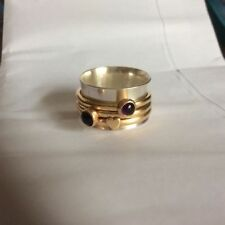 Handmade Spinner Precious Metal Rings without Stones