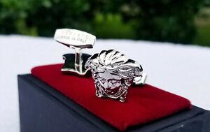 Medusa Versace Cufflink Silver Plated jewelry Mens fashion Brass metal Cuff Link