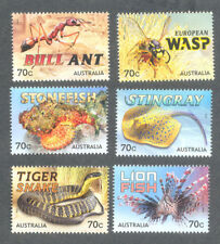 Things That Sting-set of 6 2015-Australia mnh-Snake-Fish-Insects