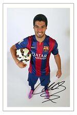 LUIS SUAREZ FC BARCELONA  AUTOGRAPH SIGNED PHOTO PRINT 2014/15