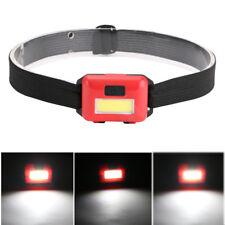 COB LED Headlamp Mini Headlight Flashlight Camping Head Torch Lantern AAA