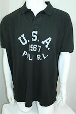 Polo Ralph Lauren Brand New Custom-Fit USA Mesh Polo Color Black XLarge NWT