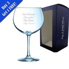 Personalised Engraved Juniper Gin Balloon 24oz Glass - Birthday Gift Present