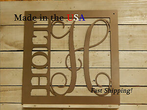 """20"""" Square Name Monogram-Metal Door Sign-Artsy Name Plaques-Custom Gifts-DS1052"""