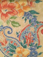 Scampolo Raiya Tessuto cretonne fiorato giallo rosso blu verde Cotone Stoffa