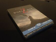 STEELBOOK BLU RAY WORLD WAR Z EDITION 3 DISC 3D/2D/DVD NEUF