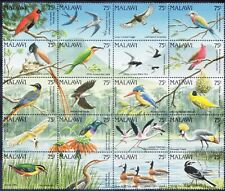 More details for malawi 1992 sg876/95 set of 20 birds - in unmounted mint block. catalogue £40