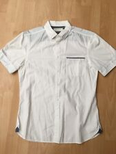 Mens River Island Shirt White Size Medium