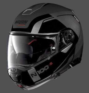 Nolan N100-5 Flip up Helmet Consistency N-Com Motorcycle Helmet - LAVA GREY WQ