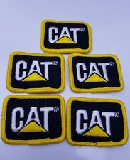 lot 5 Cat ball cap Patch Caterpillar hat embroidered uniform construction