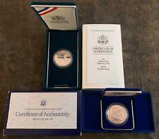 1987 Constitution & 1991 Korean War Proof Silver Dollars w/COA's - Free Ship US