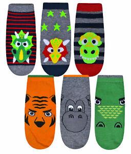 3 Pairs Boys Socks Kids Trainer Sport Animal Dinosaur Socks UK 6-8.5 9-12 12-3.5