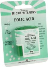 Cantassium Folic Acid 400mcg 90 Concentrated Micro Tablets (3 Month) BBE 06/2015
