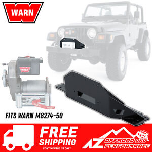 Warn Front Bumper Winch Plate 38671 for M8274-50 For 97-06 Jeep Wrangler TJ