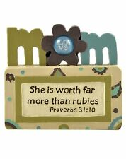 MOM Proverbs 31 Worth More Than Rubies Resin Blossom Bucket - Mother's Day Gift