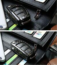REAL DRY CARBON FIBER FLIP KEY COVER CASE HOLDER FOR AUDI A1 A3 A4 A5 TT A7