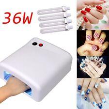 Pro Nail Polish Dryer Lamp 36W LED UV Gel Acrylic Curing Light Spa Kit + 4 tubes