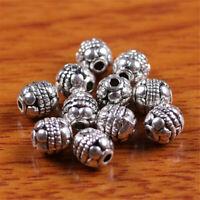100 Pieces 6mm Charm Tibetan silver Bead Spacer DIY Jewery Making Bracelet D7268