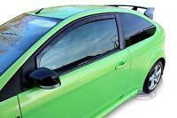 FORD FOCUS mk2 3-doors HTB ST 2004-2010 Front wind deflectors 2-pc HEKO Tinted