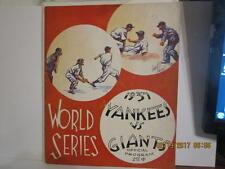 1937 World Series New York Giants vs New York Yankees (hm) Baseball program scor
