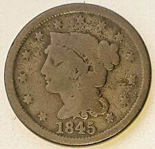 1845 Braided Hair Large Cent (G)