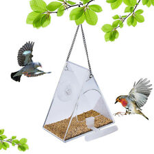 Hanging Window Wild Bird Feeder Feeding Table Clear Perspex With Suction Cup