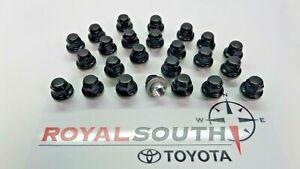 Toyota 4Runner Tacoma 6-Lug Black Lug Nut Set Genuine OE OEM