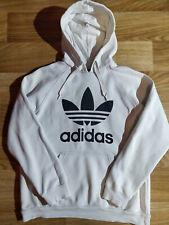 Adidas Originals Mens Hoodie Tracksuit Top Jacket Hooded White Black