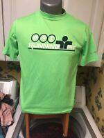 Brooks Equilibrium Technology Men's T Shirt Running Fit Neon Green Polyester XS