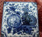 Antique Minton Chinoiseries Aesthetic blue & white ceramic tile circa 1880