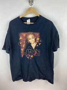 Vintage Raven Symone 2004 US Tour Mens T Shirt Size XL Double Graphics Anvil