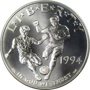 World Cup Commemorative 1994 D 90% Silver Dollar BU Uncirculated $1 Coin