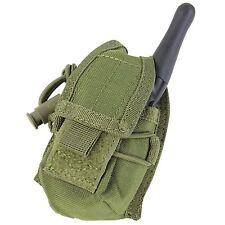 CONDOR OD GREEN MOLLE Belt Carabiner HHR Radio Holster Pouch L/R Antenna MA56