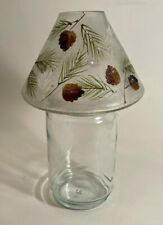 Yankee Candle Frosted Crackle Glass Pine Cones, Fir Boughs, & Snow Shade-Topper