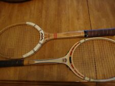 Two Vintage Wood Tennis Rackets