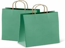 25ct Teal Kraft Paper Bag Party Shopping Gift Bags With Handles 16x6x12