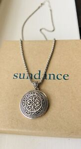 NEW Sundance Catalog Sterling Silver Mandala Pendant Chain Necklace $70